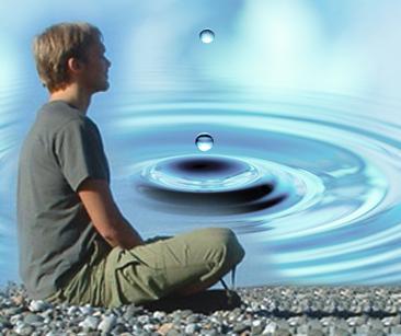 meditando gotas